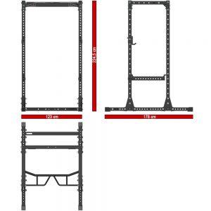 Voorbeeld afmeting power rack
