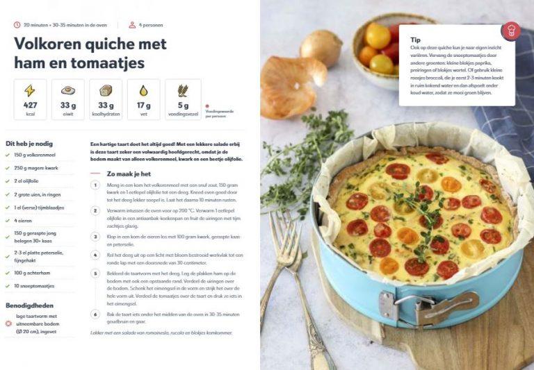 Gezonde recepten voor het het hele gezin Volkoren quiche Fitchef Family